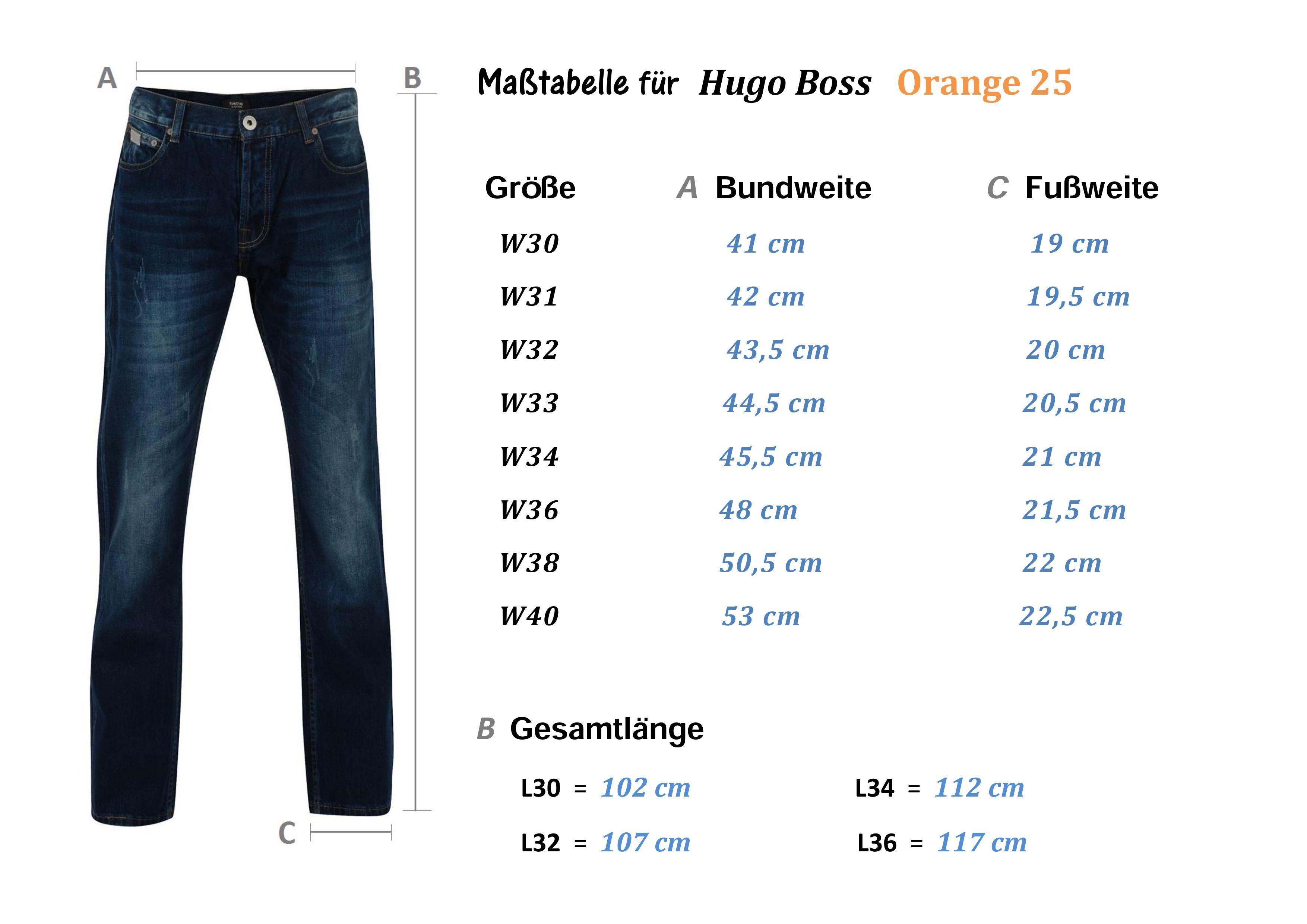 neu hugo boss w32 l32 orange 25 pure denim regular straight jeans 32 32 ebay. Black Bedroom Furniture Sets. Home Design Ideas